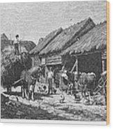 Canada: Farming, 1883 Wood Print