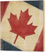 Canada Flag Wood Print