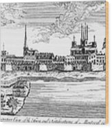 Canada: Montreal, 1760 Wood Print