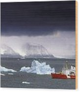 Canadian Coastguard Icebreaker Visiting Wood Print