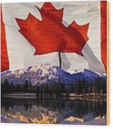 Canadian Mountains Wood Print