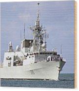 Canadian Navy Halifax-class Frigate Wood Print