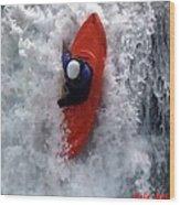 Canadian River Runners Wood Print