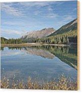Canadian Rockies Rocky Mountain Lake Wood Print