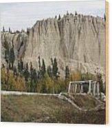 Canadian Rocky Mountains Hoodoos Wood Print