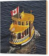 Canadian Water Taxi Wood Print