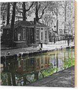 Canal Saint Martin Wood Print