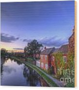 Canal Sunset Wood Print