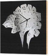 Candle Clock Wood Print