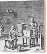 Candlemaking, 18th Century Wood Print