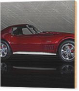 Candy Apple Corvette Wood Print