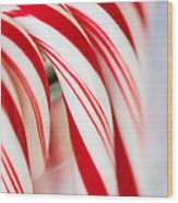 Candy Canes Wood Print