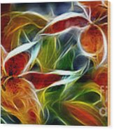Candy Lily Fractal  Wood Print