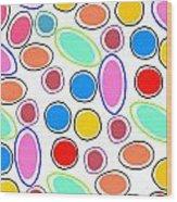 Candy Spots Wood Print