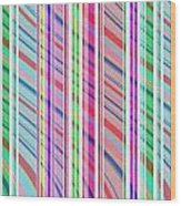Candy Stripe Wood Print