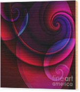 Candy Swirls Wood Print