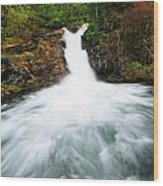 Canmore Falls Wood Print