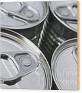 Canned Food Wood Print