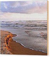 Cannon Beach Painting Wood Print