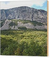 Cannon Cliff From Boise Rock New Hampshire Wood Print