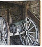 Cannon Storage Wood Print by Peter Chilelli