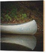 Canoe Wood Print by Joyce Kimble Smith