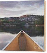 Canoeing In Ontario Provincial Park Wood Print