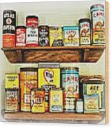 Cans Of Old Wood Print