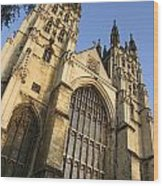 Canterbury Cathedral, Low Angle View Wood Print