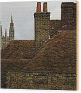 Canterbury Rooftops Wood Print