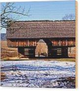 Cantilever Barn Wood Print