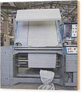Canvas Trimming Machine Wood Print