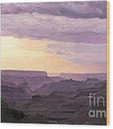 Canyon At Dusk Wood Print