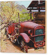 Canyon Creek Ranch Transportation Wood Print
