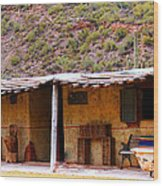 Southwest Canyon Hacienda Wood Print