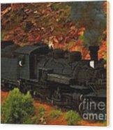 Canyon Train Wood Print