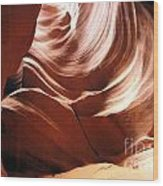 Canyon Waves Wood Print