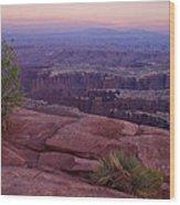Canyonlands At Dusk Wood Print by Andrew Soundarajan