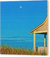 Cape Cod Bay House Wood Print