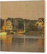 Cape Cod Evening Wood Print by Michael Petrizzo