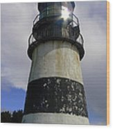 Cape Disappointment Lighthouse 002 Wood Print
