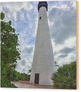 Cape Florida Light House 2 Wood Print