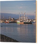 Cape May Fishing Boats Wood Print