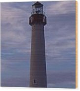 Cape May Lighthouse At Dusk  Wood Print
