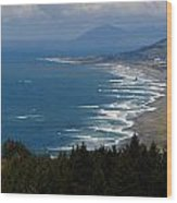 Cape Sebastian North Wood Print