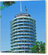 Capital Records Hollywood Wood Print