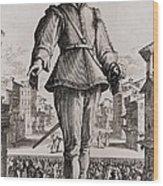 Capitano, A Stock Character Wood Print