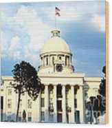 Capitol Building In Montgomery Wood Print