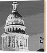 Capitol Dome Bw10 Wood Print