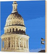 Capitol Dome Color 10 Wood Print by Scott Kelley